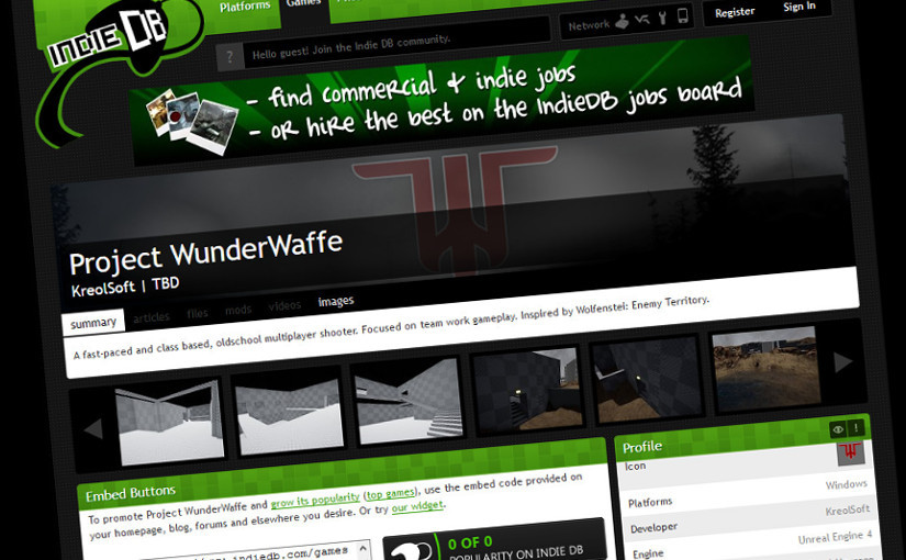 Project WunderWaffe on IndieDB